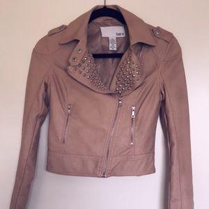 Bar III Vegan Leather Jacket